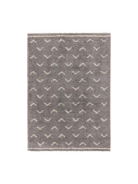 Puszysty dywan z wysokim stosem Selim, 100% polipropylen, Szary, kremowobiały, S 120 x D 170 cm (Rozmiar S)