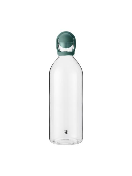 Wasserkaraffe Cool-It, 1.5 L, Verschluss: Gummi, Türkis, Transparent, 1.5 L