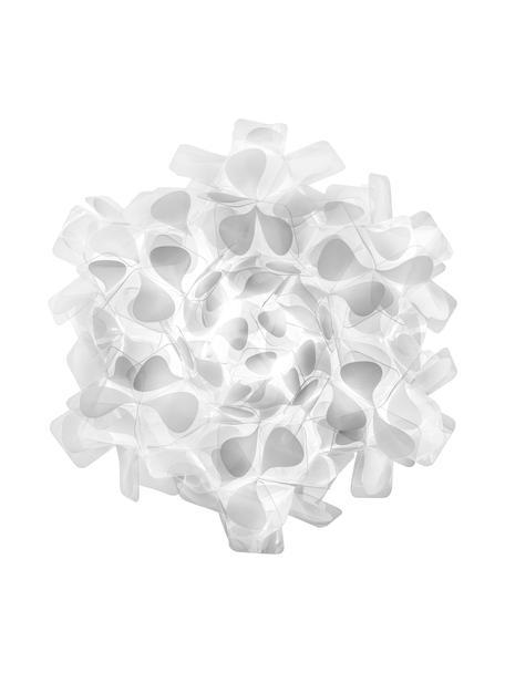 Handgemaakte wand- en plafondlamp Clizia Mama Non Mama, Lampenkap: Technopolymeer Opalflex®, Wit, grijs, Ø 32 x D 15 cm