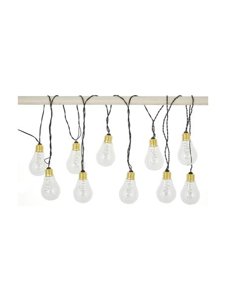 LED-Lichterkette Bulb, 360 cm, Leuchtmittel: Transparent, Goldfarben<br>Kabel: Schwarz, L 360 cm