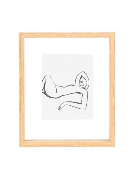 Ingelijste digitale print Aesthetic, Lijst: MDF, Afbeelding: papier, Bruin, wit, zwart, 20 x 25 cm