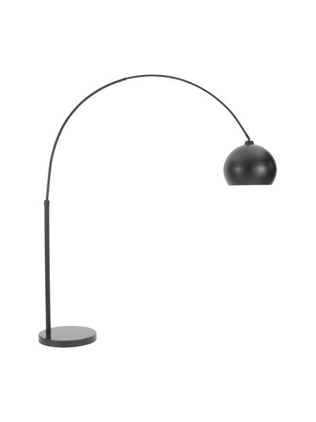Lámpara de arco de mármol Toronto, Pantalla: metal con pintura en polv, Estructura: metal con pintura en polv, Cable: plástico, Negro, An 190 x Al 198 cm
