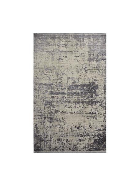 Tappeto vintage con frange effetto lucido Cordoba, Retro: cotone, Tonalità grigie con le sfumature viola, Larg. 160 x Lung. 230 cm (taglia M)