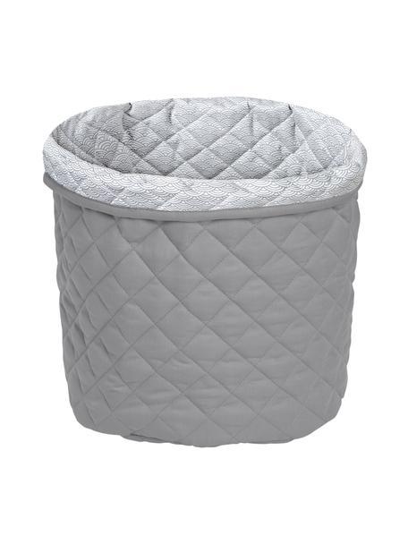 Cesta in cotone organico Wave, Rivestimento: 100% cotone biologico, Grigio, Ø 30 x Alt. 33 cm