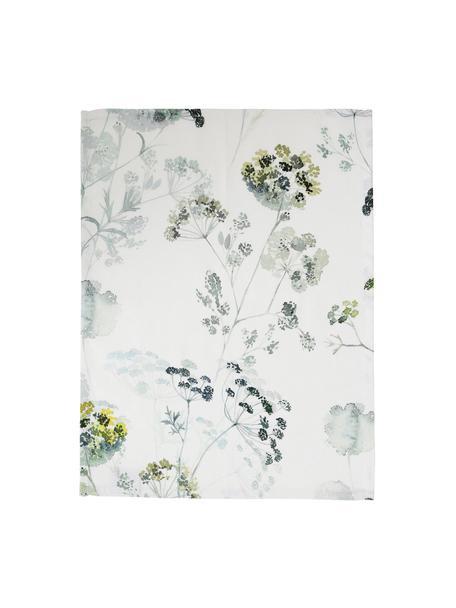 Tischsets Herbier mit Aquarell Print, 2 Stück, Baumwolle, Weiß, Grüntöne, 38 x 50 cm