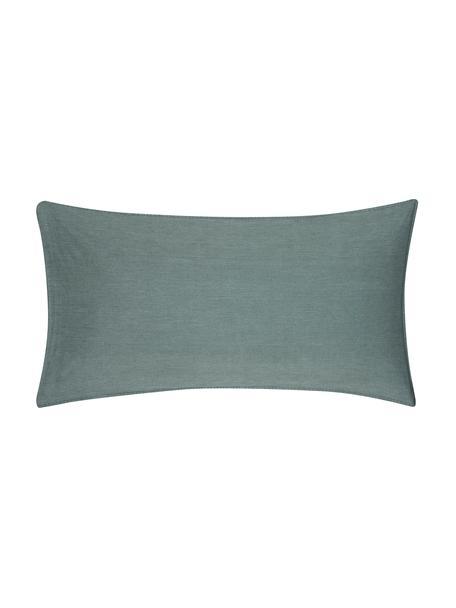 Poszewka na poduszkę z bawełny z efektem sprania Arlene, 2 szt., Ciemnyzielony, S 40 x D 80 cm