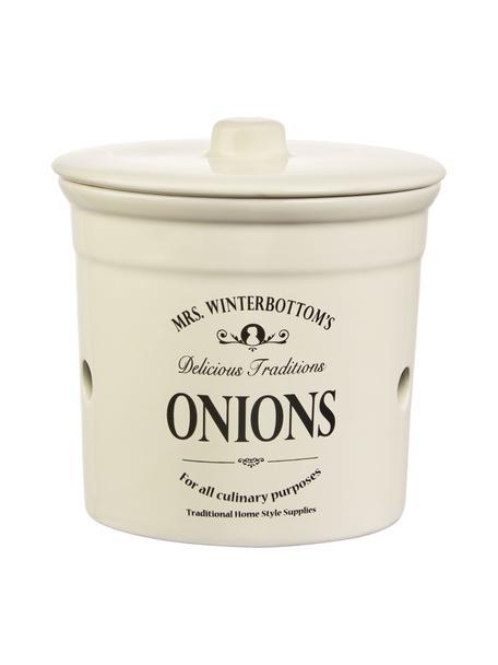 Bote Mrs Winterbottoms Onions, Gres, Crema, negro, Ø 17 x Al 18 cm