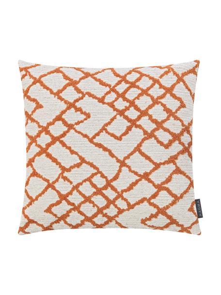 Poszewka na poduszkę z tyłem z aksamitu Malin, Jasny beżowy, rdzawy, S 40 x D 40 cm