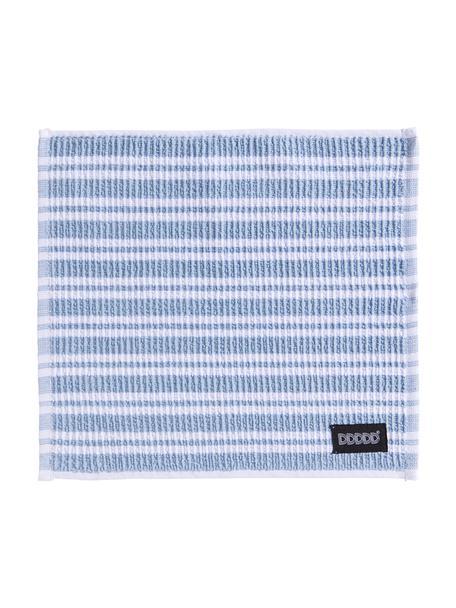 Reinigungstücher Basic Clean, 4 Stück, Baumwolle, Blau, Weiss, 30 x 30 cm