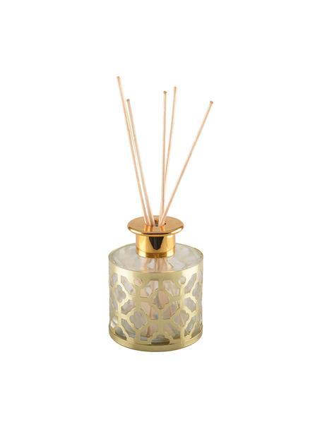 Ambientador Helion (vainilla), Metal, vidrio, aceite perfumado, palillos de madera, Dorado, transparente, Ø 9 x Alto 24 cm
