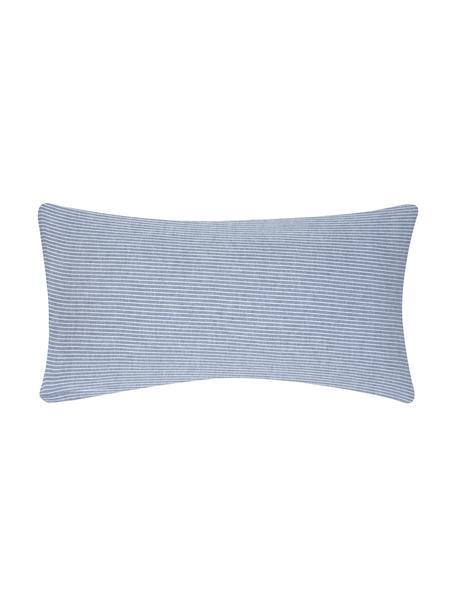 Flanell-Kissenbezüge Rae, fein gestreift, 2 Stück, Webart: Flanell Flanell ist ein k, Blau, Weiß, 40 x 80 cm