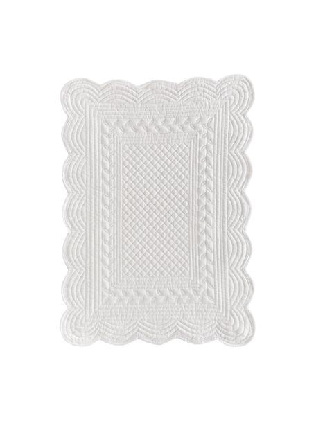 Manteles individuales de algodón Boutis, 6uds., Algodón, Blanco, An 34 x L 48 cm