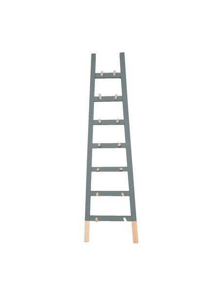 Ladderrek Helia, Gecoat grenenhout, Grijs, grenenhoutkleurig, 46 x 170 cm