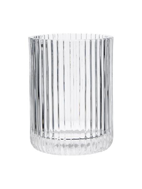 Tandenborstelbeker Gulji van glas, Glas, Transparant, Ø 7 x H 10 cm