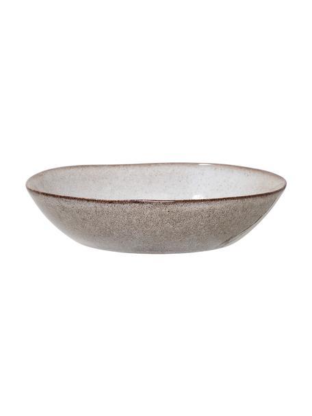 Handgemachter Suppenteller Sandrine in Beige, Ø 22 cm, Steingut, Beigetöne, Ø 22 x H 5 cm