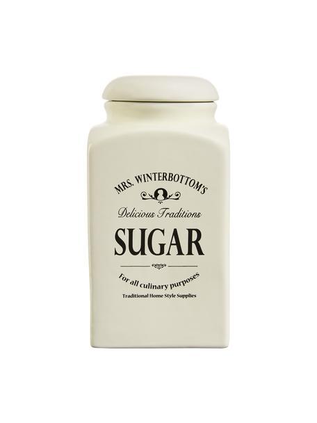 Bote Mrs Winterbottoms Sugar, Gres, Crema, negro, Ø 11 x Al 21 cm