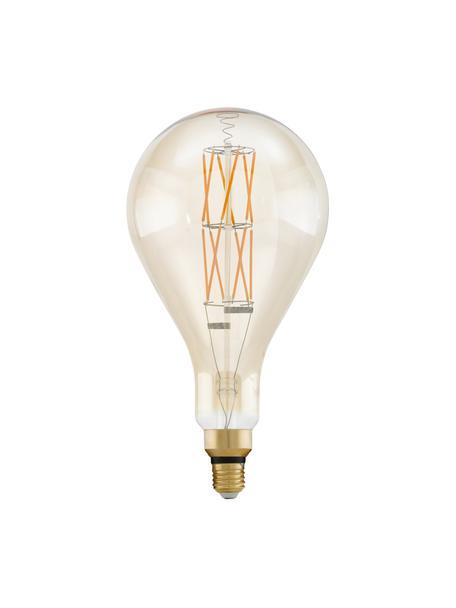 Lampadina E27 XL, 8W, bianco caldo, 1 pz, Paralume: vetro, Base lampadina: alluminio, Trasparente ambra, Ø 16 x Alt. 30 cm