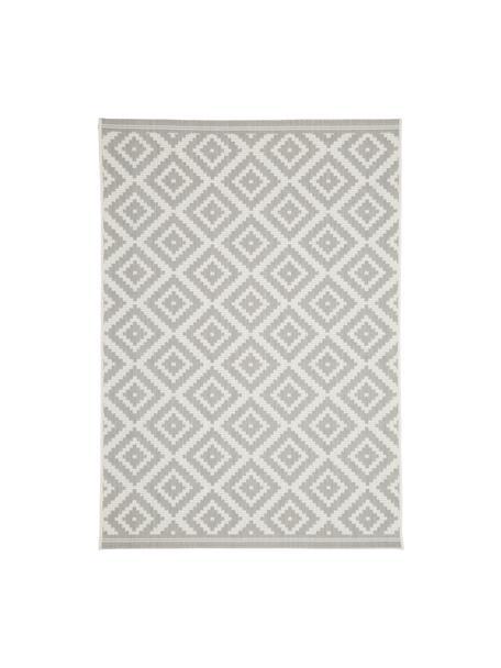 Tappeto da interno-esterno Miami, Retro: poliestere, Bianco crema, grigio, Larg. 200 x Lung. 290 cm  (taglia L)