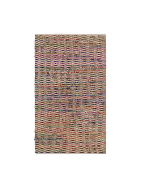 Bunter Teppich Cando aus Jute-Mix, 60% synthetische Fasern, 40% Jute, Jute, Mehrfarbig, B 60 x L 90 cm (Grösse XXS)