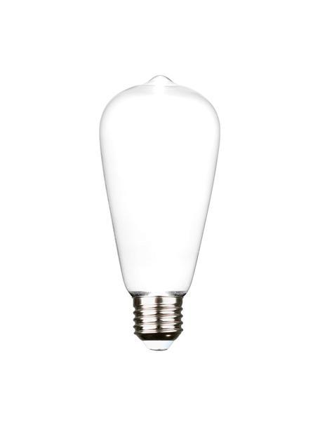 Lampada E27 Ghost, 2,5W, bianco caldo, 1 pz, Paralume: vetro, Base lampadina: alluminio, Bianco, alluminio, Ø 6 x Alt. 15 cm