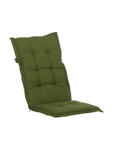 Einfarbige Hochlehner-Stuhlauflage Panama in Grün, Bezug: 50% Baumwolle, 45% Polyes, Grün, 50 x 123 cm