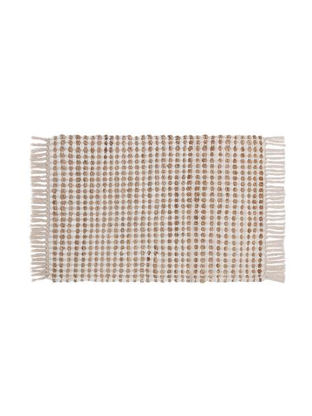 Wycieraczka  z juty i bawełny Fiesta, 55% bawełna, 45% juta, Biały, S 45 x D 75 cm