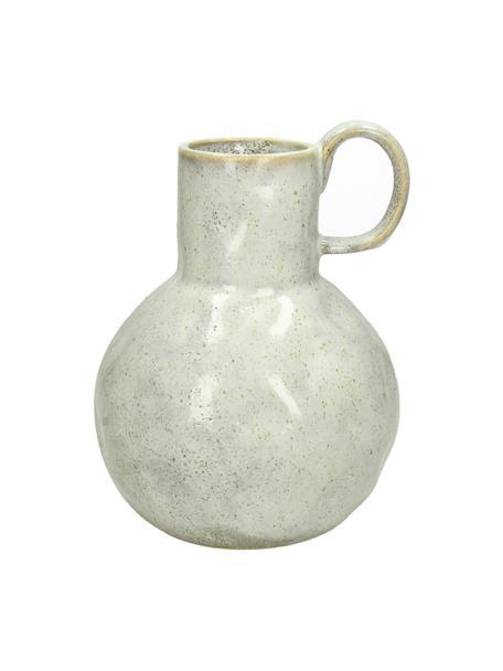 Vase Ammolite, Steingut, Beige, Ø  16 x H 20 cm