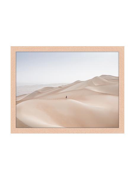 Stampa digitale incorniciata Khali Desert, Immagine: stampa digitale su carta,, Cornice: legno verniciato, Multicolore, Larg. 43 x Alt. 33 cm