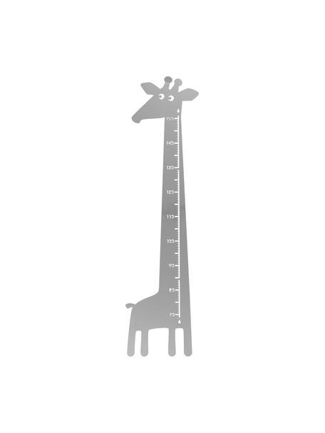 Groeimeter Giraffe, Gepoedercoat metaal, Grijs, 28 x 115 cm