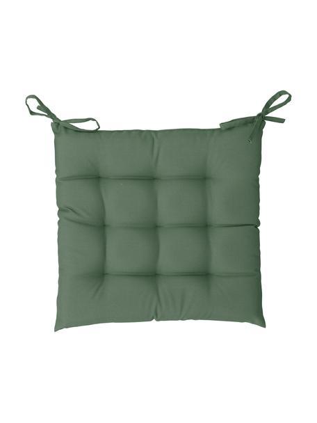 Zewnętrzna poduszka na siedzisko St. Maxime, Ciemny zielony, czarny, S 38 x D 38 cm