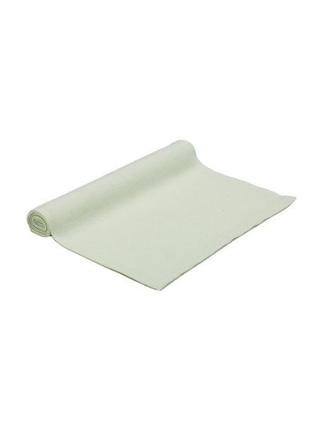Runner in misto cotone verde pastello Riva, 55% cotone, 45% poliestere, Verde pastello, Larg. 40 x Lung. 150 cm