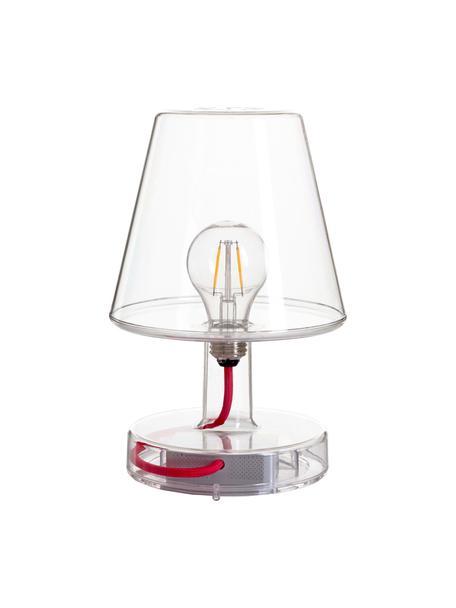 Mobile LED-Tischleuchte Transloetje, Kunststoff, Transparent, Ø 17 x H 27 cm