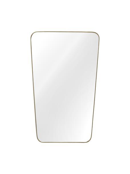 Espejo de pared Adrienne, Espejo: espejo de cristal, Parte trasera: tablero de fibras de dens, Latón, An 50 x Al 80 cm