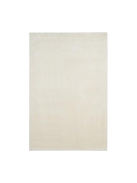 Tappeto in viscosa extra morbido Grace, Retro: 100% poliestere, Bianco crema, Larg. 200 x Lung. 300 cm (taglia L)