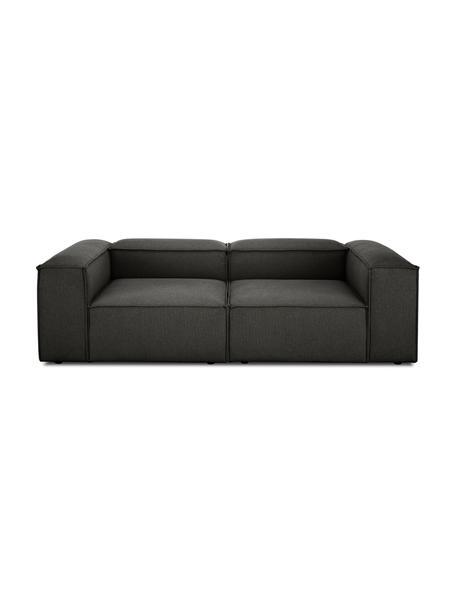 Modulares Sofa Lennon (3-Sitzer) in Anthrazit, Bezug: Polyester Der hochwertige, Gestell: Massives Kiefernholz, Spe, Füße: Kunststoff, Webstoff Anthrazit, B 238 x T 119 cm