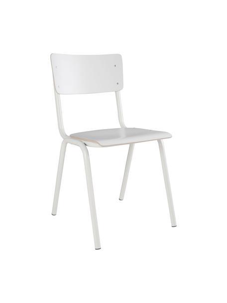 Krzesło Back to School, 4 szt., Nogi: metal malowany proszkowo, Biały, 43 x 83 cm