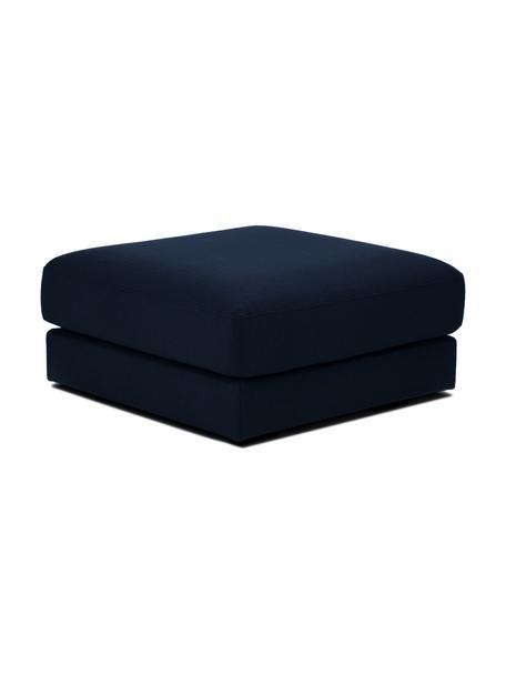 Sofa-Hocker Tribeca in Dunkelblau, Bezug: 100% Polyester Der hochwe, Gestell: Massives Buchenholz, Füße: Massives Buchenholz, lack, Stoff Dunkelblau, 80 x 40 cm