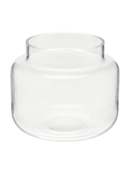 Glas-Vase Lasse, medium, Glas, Transparent, Ø 16 x H 14 cm