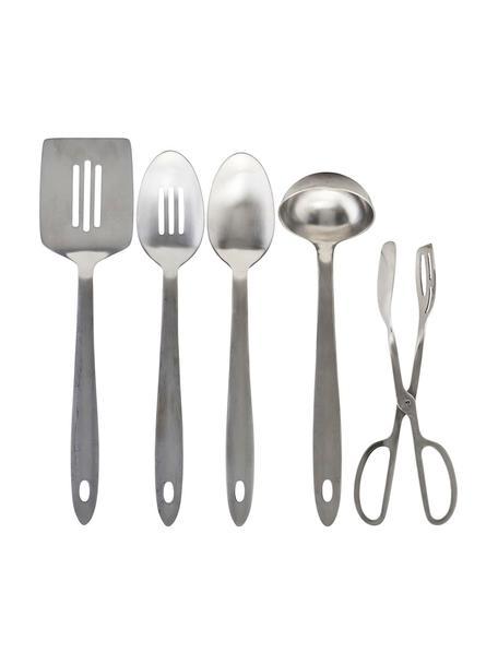 Küchenutensilien Take in Silber, 5er-Set, Edelstahl, Silberfarben, Sondergrößen