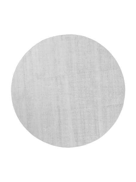 Runder Viskoseteppich Jane in Silbergrau, handgewebt, Flor: 100% Viskose, Silbergrau, Ø 115 cm (Grösse XS)