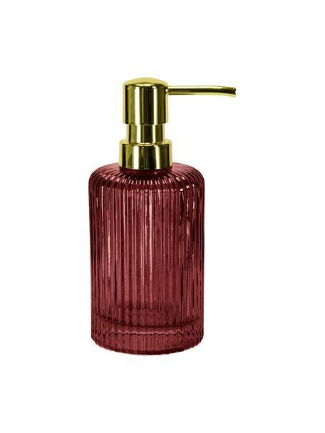 Dispenser sapone in vetro Antoinette, Testa della pompa: metallo, Mogano, Ø 8 x Alt. 17 cm