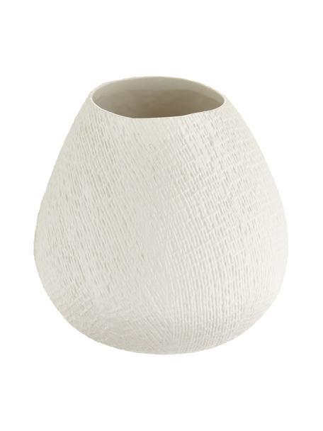 Handgemachte Vase Wendy, Keramik, Cremeweiss, matt, Ø 19 x H 20 cm