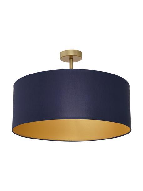 Lampa sufitowa Ben, Granatowy, odcienie mosiądzu, Ø 50 x W 35 cm