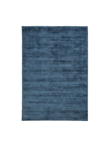 Tappeto in viscosa tessuto a mano Jane, Retro: 100% cotone, Petrolio, Larg.160 x Lung. 230 cm  (taglia M)