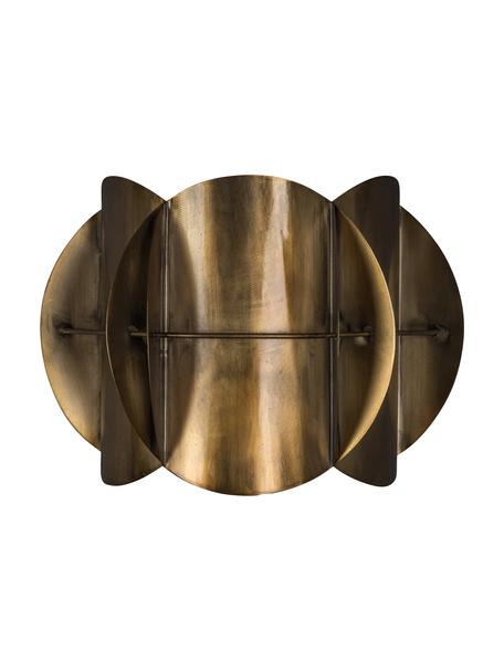 Design Wandleuchte Corridor mit Stecker, Lampenschirm: Messing, Messing mit Antik-Finish, 27 x 19 cm
