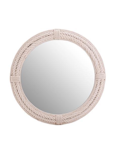 Espejo de pared Ramos, Espejo: cristal, Blanco, Ø 90 cm