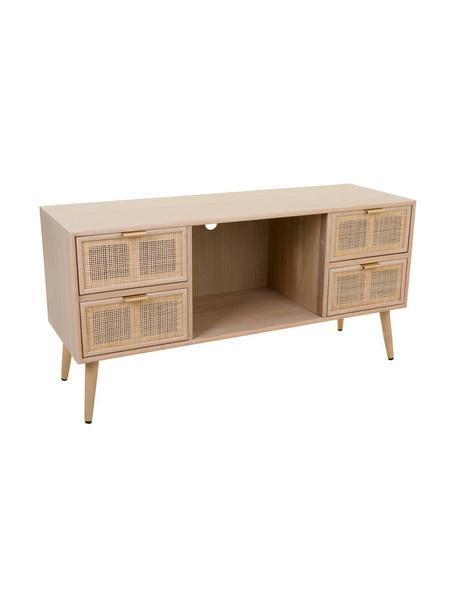 Mueble TV Cayetana, Estructura: tablero de fibras de dens, Beige, An 120 x Al 60 cm