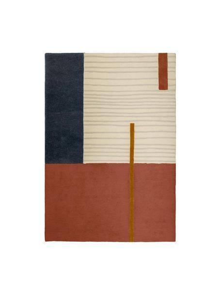 Wollen vloerkleed Bahiti met geometrisch patroon, Multicolour, B 160 x L 230 cm (maat M)