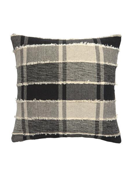 Poszewka na poduszkę Roberto, 100% bawełna, Beżowy, czarny, S 45 x D 45 cm