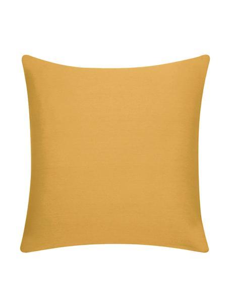 Federa arredo in cotone giallo senape Mads, 100% cotone, Giallo senape, Larg. 40 x Lung. 40 cm